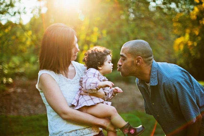 sunset family session