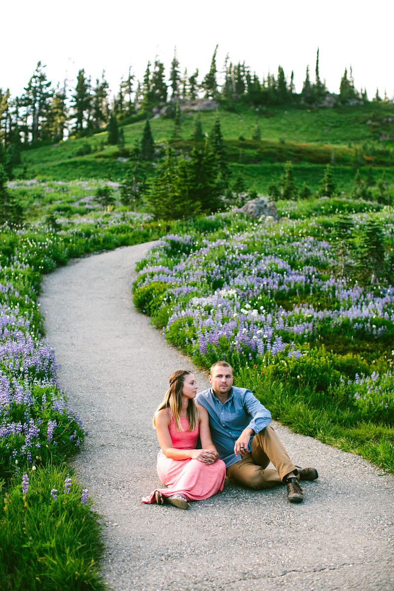 Laura Ring Photography - Mt. Rainier Couple Portrait Session
